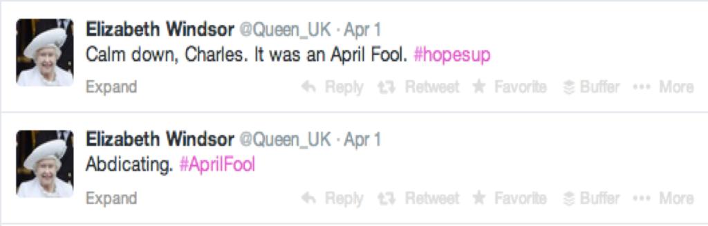Queen Twitter feed