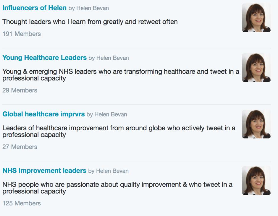 Helen Bevan List